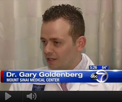 Watch Video: Dr. Gary Goldenberg featured on ABC 7 News about scar prevention while healing