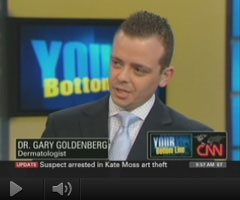 Watch Video: Dr. Goldenberg appears on CNN's Bottom Line to discuss the importance of use of sunscreens