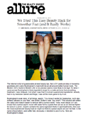 Allure Magazine - Dr. Goldenberg gives his input on beauty hacks for smoother feet