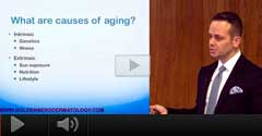 Watch Video: Dr. Goldenberg Cosmetic Lecture -Causes of Aging & What You Can Do About It