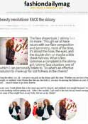 Fashion Daily Mag -Dr. Goldenberg gives his input about - Beauty resolutions: FACE the skinny