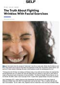 SELF – Dr. Gary Goldenberg talks about the truth fighting wrinkles with facial exercises
