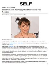 Self- Dr. Gary Goldenberg is quoted in Lena Dunham Is Not Happy That She Suddenly Has Rosacea