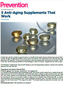 Prevention.com - Dr. Gary Goldenberg advises on anti-aging supplements.